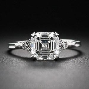 La bague de diamant Asscher