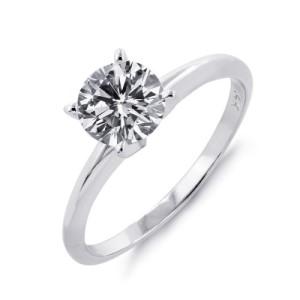 Une bague diamant solitaire
